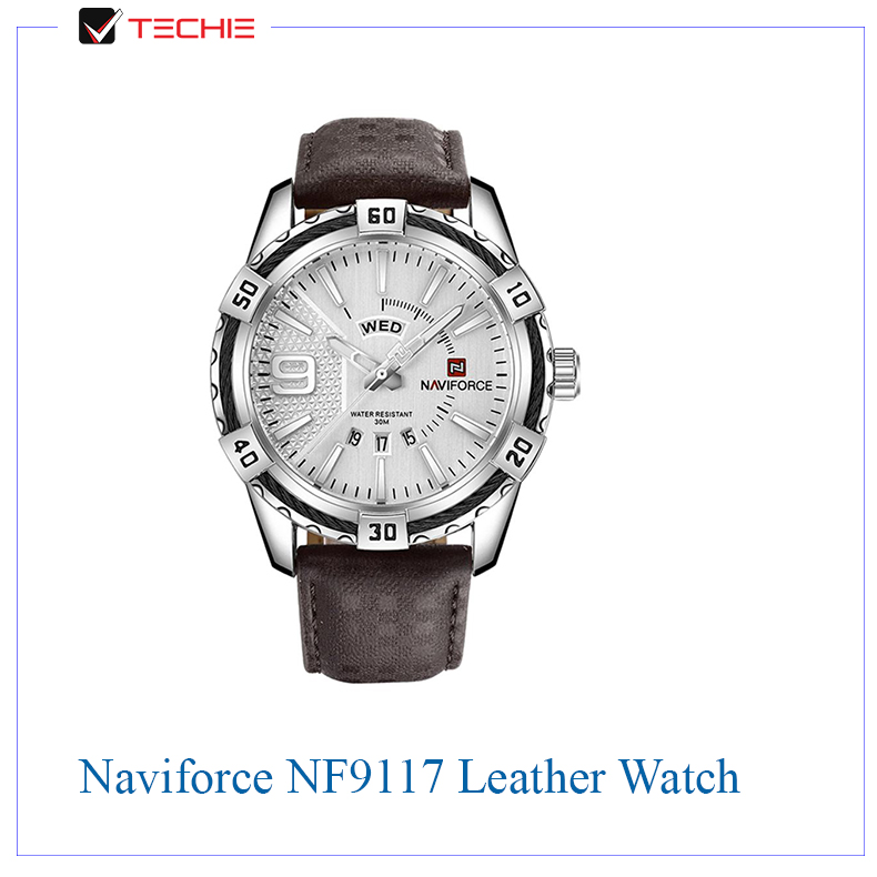 Naviforce-NF9117-Leather-Analog-Watch
