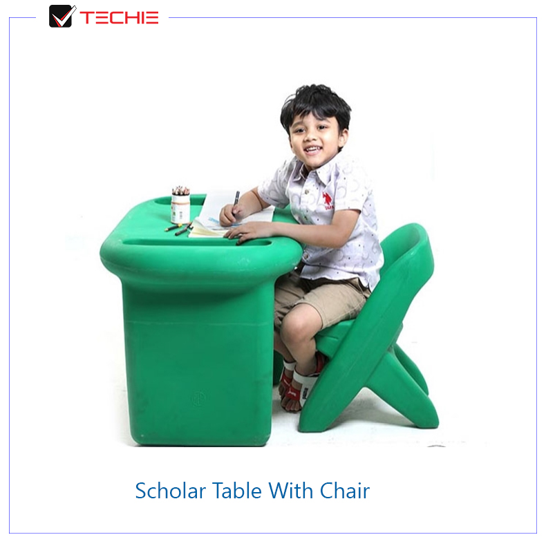 Scholar-Table-With-Chair-green